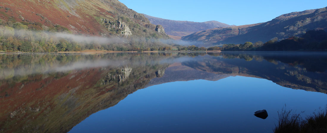 Llyn Gwynant snowdonia autumn lake reflection_home
