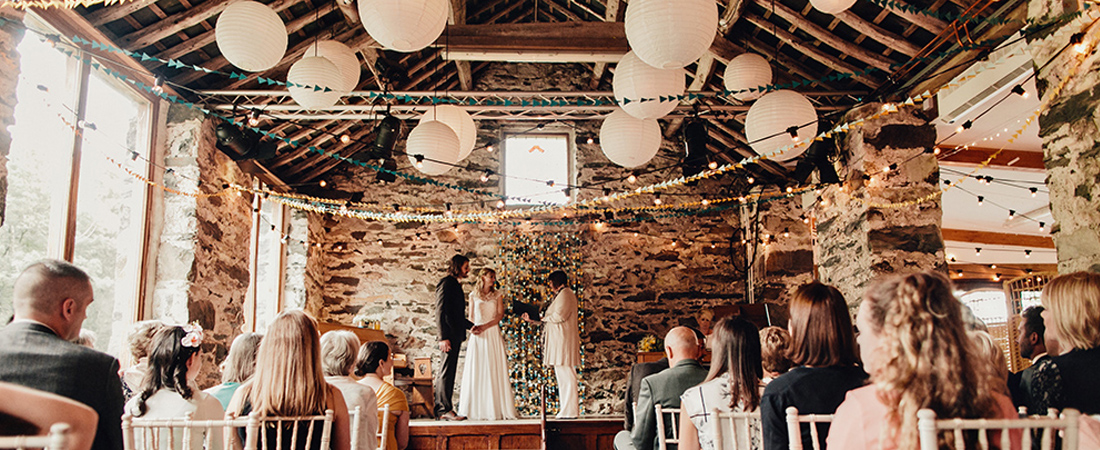 Snowdonia wedding in historical barns camping_home