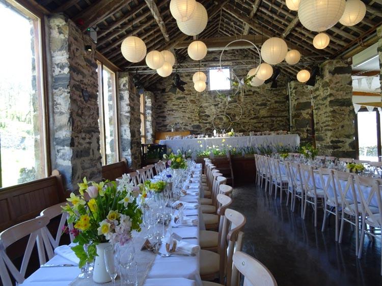 wedding tables and our wedding chairs llyn gwynant campsite