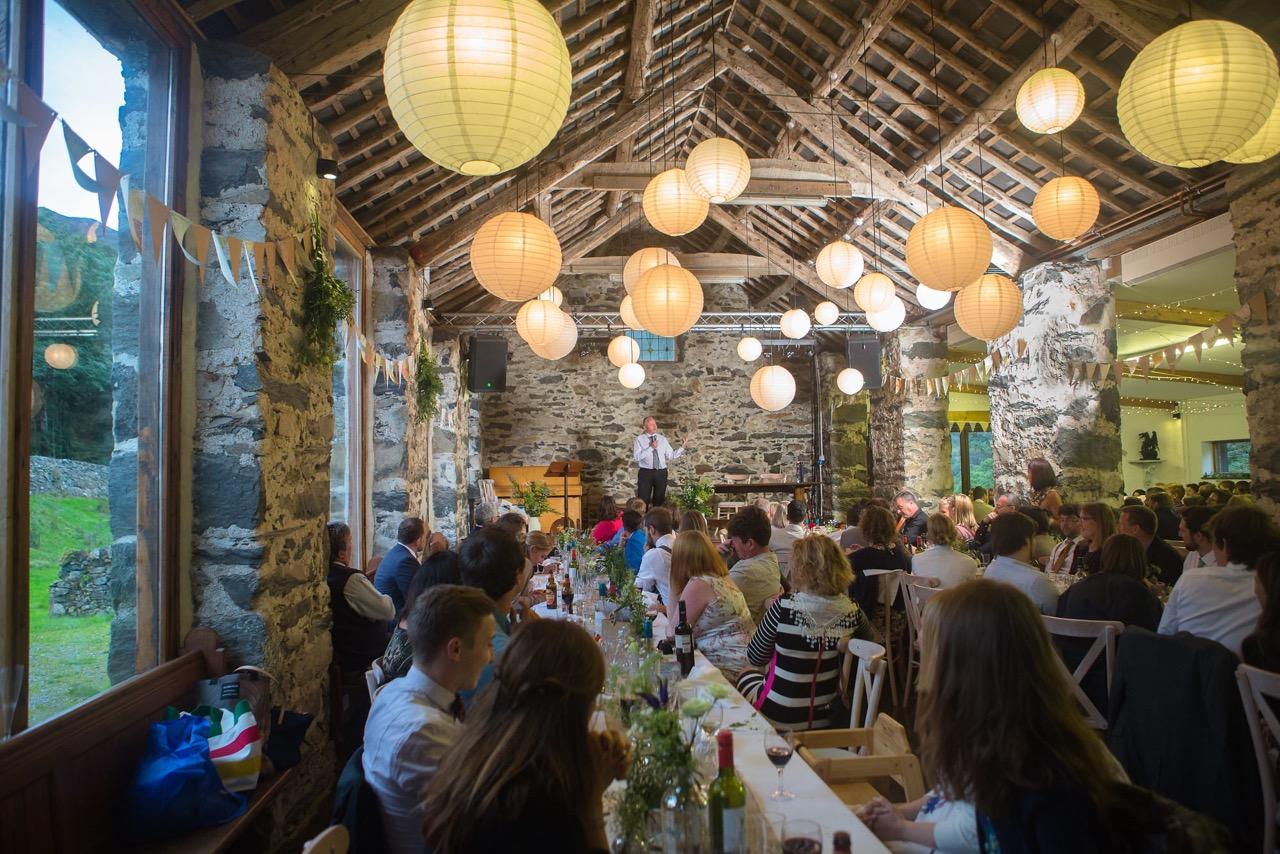 speeches at a wedding breakfast in big barn llyn gwynant