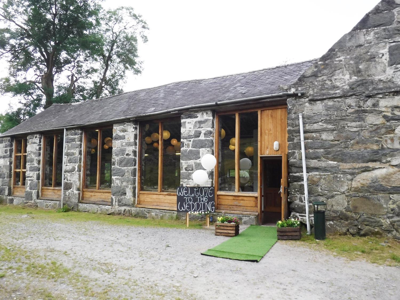 outside the big barn at a recent wedding llyn gwynant