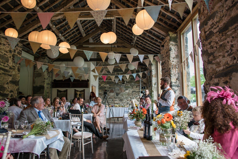 afterdinner speeches at a wedding breakfast in big barn